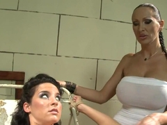 Bettina DiCapri and Mandy Bright dildo sucking