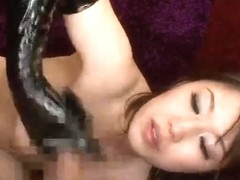 JAV Idol - jizz flow with vinyl gloves