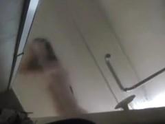 cute Singaporean girl showering