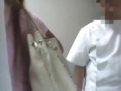 Girl is squeezing her own boobs getting voyeur nub massage
