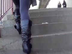 Grey Leggings Hot