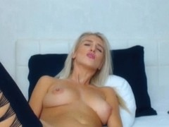 Perfect Sexy Blonde Dildo Fucks Her Pussy