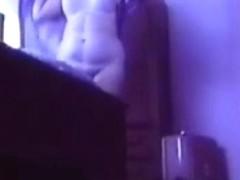 Great view of my mum nude. Hidden cam in bedroom