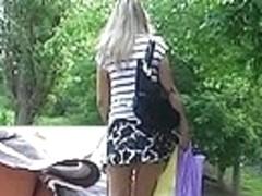 Hawt blond's upskirt