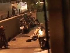 Taiwanese old man fuck hooker on the street
