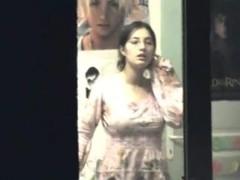 Voyeur clip of a naked teen