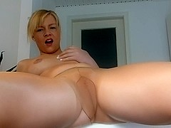 Masturbating while wearing nylons