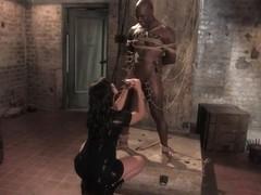 Gorgeous Dominatrix teaches Pussy Worship