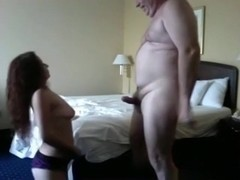 Old man is back in another sextape with a streetslut in a hotelroom