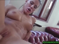 Athina gave dude a nice and hard blowjob then he fucked her amateur pussy