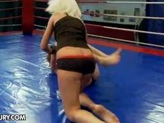 NudeFightClub presents Sandra Seashell vs Leyla Peachbloom