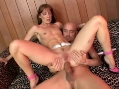 Young redhead girl having anal sex
