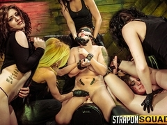 Pain Slut Aryah May Begs Brooklyn Daniels & Mila Blaze for Lesbian Domination