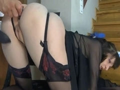 three Scenes with Lascivious MILFs Screwed in stairs