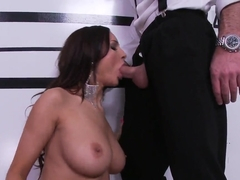 Busty whore Amy Ried gives head to Charles Dera