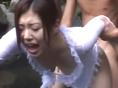 Incredible Japanese chick in Hottest Outdoor, Showers JAV movie