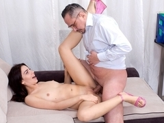TrickyOldTeacher - Esenia gets fucked real good by her tricky old teacher