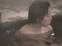 Voyeur cam shooting Asian dolls in the sauna pool nri111 00