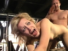 Hottest fetish sex scene with crazy pornstars Kimberly Kane and Brandon Iron from Dungeonsex