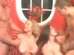 Busty junior babes Bozena and Petra gets tight pussies fucked