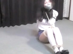Japanese amateur hogtied cleavegagged tapegagged