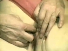 Hairy granny masturbates and gets crammed