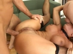 Bonny Bon double anal group sex