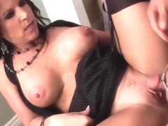 Good cumshot for a sexy milf in stockings top milf