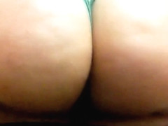 Blonde P A W G spanks & shakes her big round ass