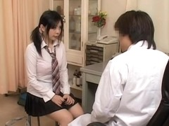 Asian brunette gets her vagina inspected by her gynecologist