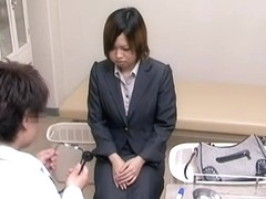Japanese whore got fucked by her endowed gynecologist