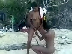 My lesbian friends on the beach playing with each other