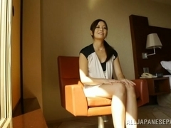 Hot MILF Minami Asano during hot tongue action