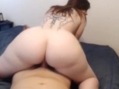 Plump lustful GF sucks and rides on top