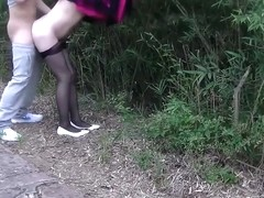 China wife fuck in public