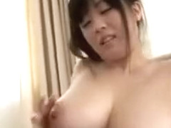 Attractive busty asian girl gets her large breasts sucked l