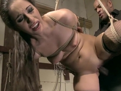 She submits to her master and gives head then gets bent over and fucked