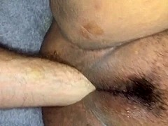 Fat hairy cookie getting fisted punch fucking