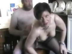 Middle aged couple home sex