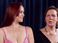 Amazing fetish porn scene with exotic pornstars Bella Rossi and Flaming June from Kinkuniversity