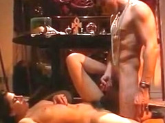 Crazy double penetration retro clip with Charlotte Stephie and Marc Dorcel