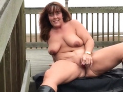 First outdoor masturbation in boots - JJ