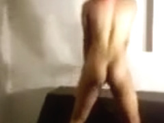 Black girl with red hair nude dance