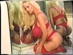 Busty Dusty Red Lingerie & Mirrors