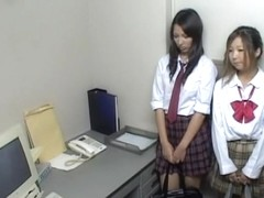 Two Japanese bitches sucked a police inspector.s pecker