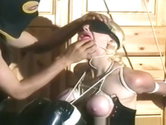 Nasty Blonde Whore Tied Up And Dominated In Hot Bdsm Scene