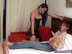 Tgirl fuck and facial
