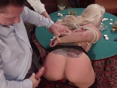 All In: Holly Heart gets TRIPLE PENETRATED by HUGE fat cocks!