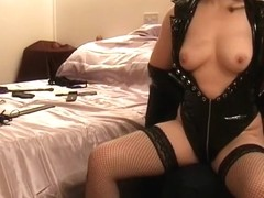 mrs snd s tits and nips get a light whipping in pvc
