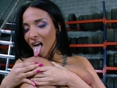 Anissa Kate in Pussy Banging At The Tire-Shop For The...